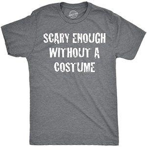 NWT Crazy Dog Mens Scary W/O A Costume Shirt